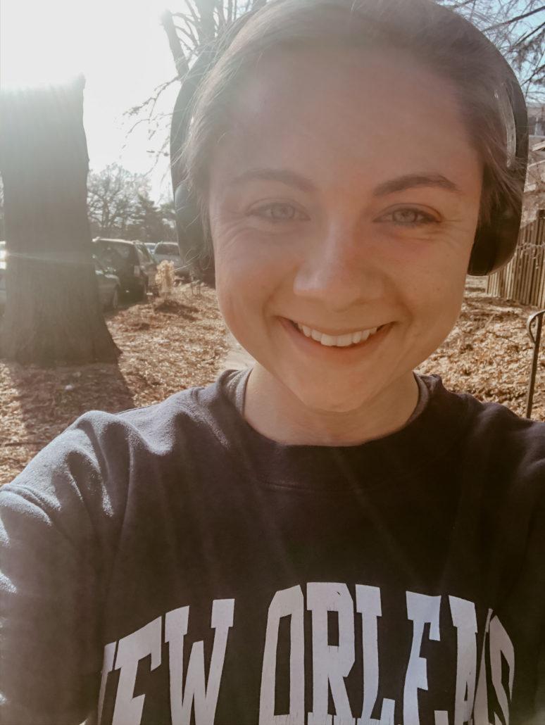 Mikaela Lauren Wellness Running Outside