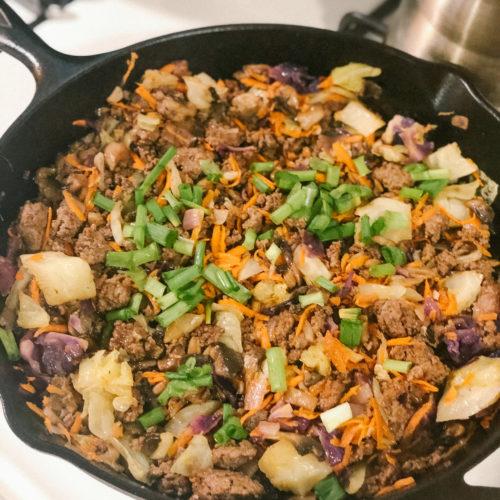 Ground Beef Stir-fry Bowls
